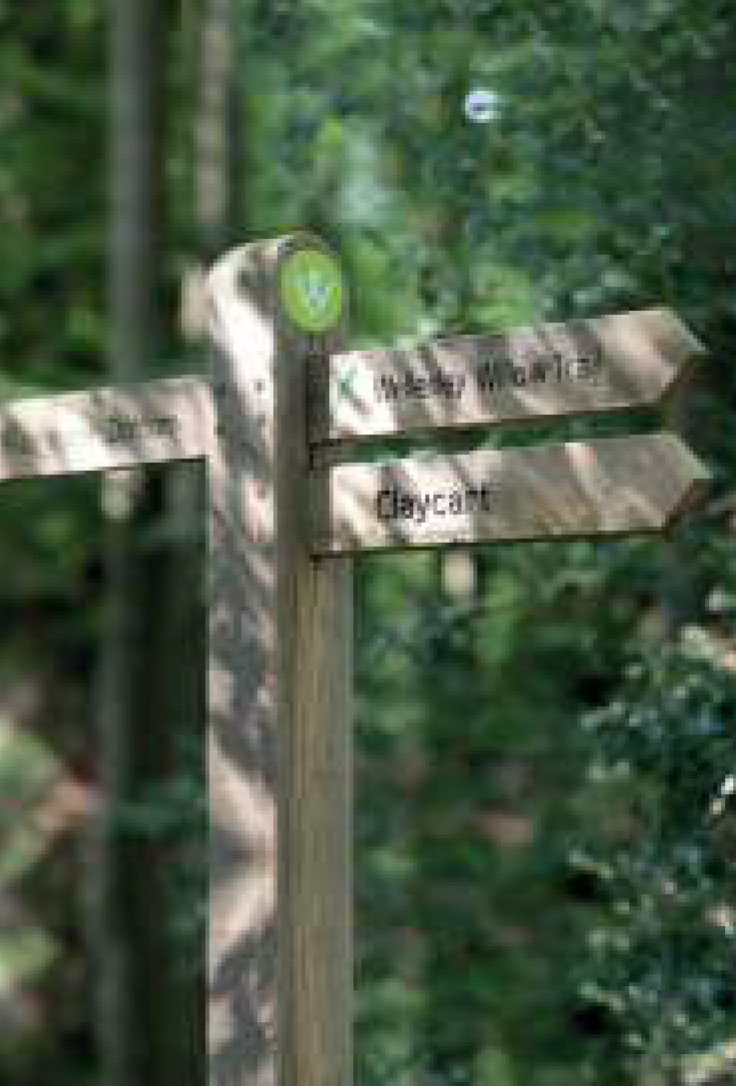 Finger Post & copy; Wellesley Woodlands