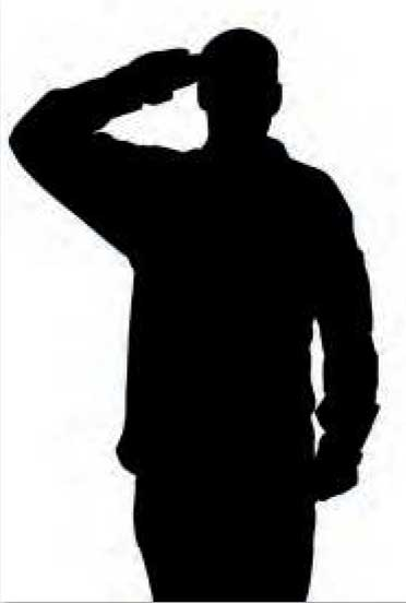 Saluting Soldier © Wellesley Woodlands